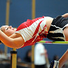 Pat Christman<br /> Mankato West's Hannah Fox clears the bar at 5 feet, 2 inches during the high jump at the Section 2AA meet Wednesday.