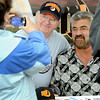 Pat Christman<br /> Art Hiller has his photo taken with former Minnesota Twins player Jeff Reardon before Wednesday's Mankato MoonDogs home opener at Franklin Rogers Park.