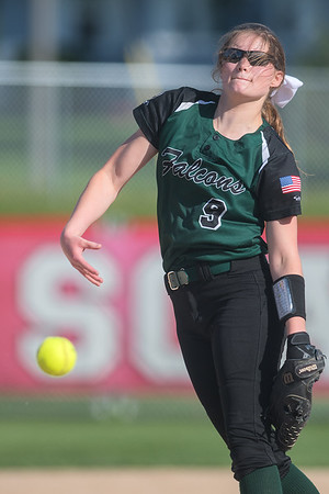 Mankato West's bats were kept quiet on Thursday by Faribault pitcher McKayla Armbruster, who pitched a one-hit shutout. Photo by Jackson Forderer