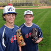 Mankato's Tyler Stoffel, left, and Steven Nessler have been chosen to play for the USA 19-under junior men's fastpitch softball team. Photo by Pat Christman