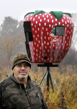John ross<br /> John Cross<br /> Elden Stanke's elevated deer stand near Smith's Mill may not rank among the most luxurious but with orgins as an amusement ride, it probably ranks as one of the most unique.
