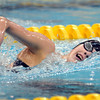 Mankato West's Chantal Nack swims in the State Class A 500 yard freestyle championship Saturday at the University of Minnesota Aquatic Center.