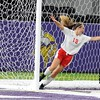 Mankato West girls soccer v. Dover-Eyota celebration