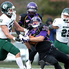 Minnesota State's Jeff Burns hauls in a pass during their NCAA Division II football regional tournament game against Northwest Missouri State Saturday at Blakeslee Stadium.