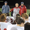 Mankato West football coach Mark Esch
