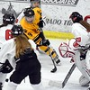 Mankato East/Loyola girls hockey v. Mankato West 1