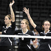 during their State Class AA quarterfinal match Thursday at the Xcel Energy Center in St. Paul
