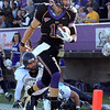 Minnesota State University quarterback Jon Wolf races into the end zone during the first half Saturday.