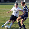 St. Peter's Marta Springer defends against East's Emily Stengel.