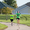 Kris Anderson (right) and her son Isaiah Anderson, age?, train for the 10K run of the Mankato Marathon. Photo by Jackson Forderer