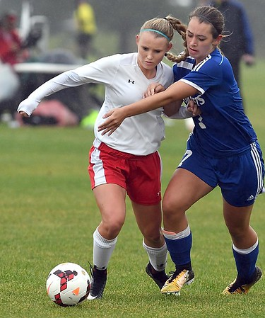 Mankato West girls soccer Shelby Lund