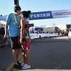 Mankato Half Marathon finish kiss