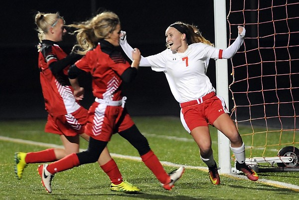 Mankato West girls soccer v. North Branch 1