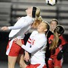 Mankato West girls soccer v. North Branch 4