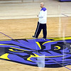 Minnesota State men's basketball head coach Matt Margenthaler watches the team's workout Saturday at Bresnan Arena.