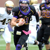 Minnesota State quarterback Jon Wolf rushes during the first half against Southwest Minnesota State Saturday at Blakeslee Stadium.