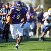 Pat Christman <br /> Minnesota State's Dennis Carter runs for a 53-yard touchdown in the fourth quarter against Augustana College Saturday at Blakeslee Stadium.