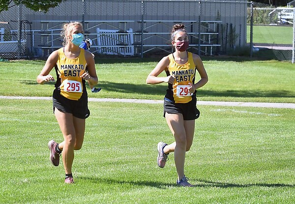 Mankato East cross country masks