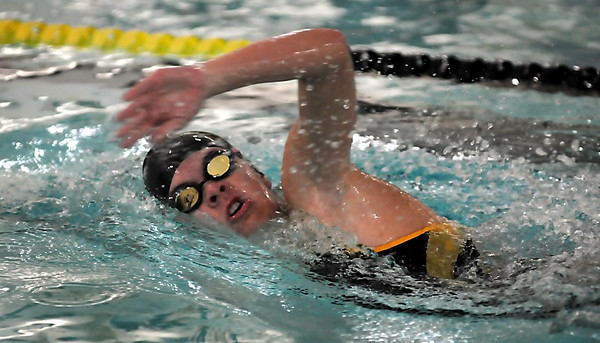 John Cross<br /> Erica Ellstrom competes in the 200 Freestyle.