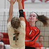 Mankato West volleyball v. Rochester Mayo 2