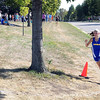 Mankato Loyola/Cleveland's Kyla Haas rounds a corner on her way to winning the girls varsity cross country race Friday on the Loyola campus.
