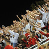 Pat Christman <br /> Mankato West fans cheer during their team's game against Mankato East Friday.