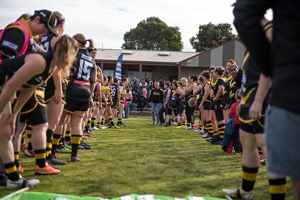 Werribie v Coburg - 2018 Monarch Women's AFL Masters Victorian Metropolitan Superules Round 1 Game 2