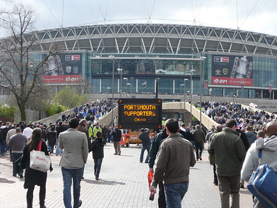 Walking to Wembley Stadium