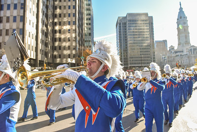 Sophomore Patrick Lightbody performs with the West Orange High School Marching Band in the 98th Annual Thanksgiving Day Parade. 11/23/17 Photo Credit: Thomas Lightbody
