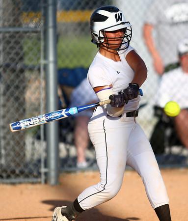 5-30-14<br /> Western Sectional softball<br /> Western's Shelby Gilbert bats.<br /> Kelly Lafferty   Kokomo Tribune