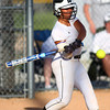 5-30-14<br /> Western Sectional softball<br /> Western's Shelby Gilbert bats.<br /> Kelly Lafferty | Kokomo Tribune