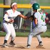 5-30-14<br /> Western Sectional softball<br /> Shelby Gilbert tags out Benton Central's Madison Spangler.<br /> Kelly Lafferty   Kokomo Tribune