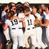 5-30-14<br /> Western Sectional softball<br /> Western's softball team celebrates in the infield after their sectional championship win.<br /> Kelly Lafferty | Kokomo Tribune