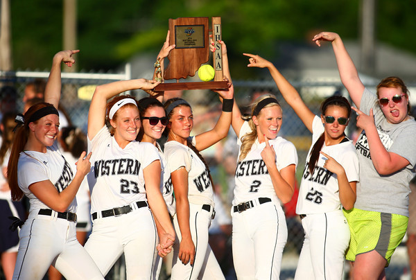 5-30-14<br /> Western Sectional softball<br /> Western celebrates their sectional softball championship win.<br /> Kelly Lafferty | Kokomo Tribune