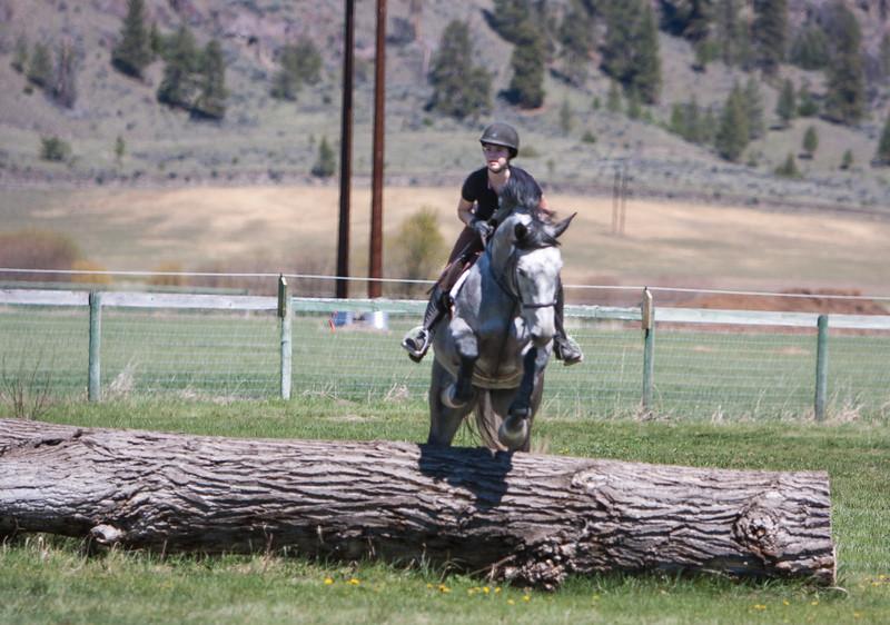 Emma eyeing the next jump