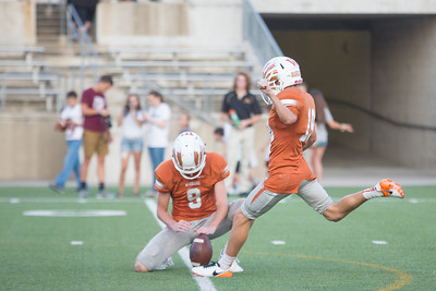 Westwood Junior Kaeden Roberts kicks an extra point against Rouse Friday at  Kelly Reeves Athletic Complex.