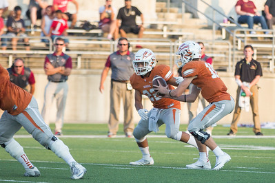 Westwood Junior Will Jennings passes the ball off to Senior Prince Ugwu against Rouse on Friday at  Kelly Reeves Athletic Complex.
