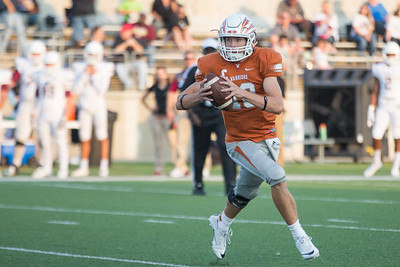 Westwood Junior Will Jennings looks to pass the ball against Rouse on Friday at  Kelly Reeves Athletic Complex.