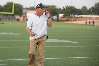 Westwood head coach Anthony Wood on the field Friday at  Kelly Reeves Athletic Complex.