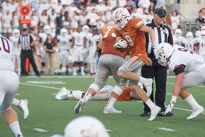 Westwood Senior Trevor Smith carries the ball against Rouse Friday at  Kelly Reeves Athletic Complex.
