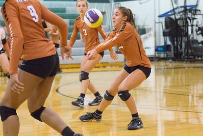 Courtney Markes of Westwood digs a ball against Cedar Park on Tuesday, Aug 18, 2015 at Cedar Park High School. CHRISTINA SHAPIRO FOR ROUND ROCK LEADER
