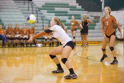 Kim Sladek of Westwood bumps the ball against Cedar Park on Tuesday, Aug 18, 2015 at Cedar Park High School. CHRISTINA SHAPIRO FOR ROUND ROCK LEADER