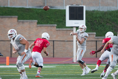 Westwood Junior Will Jennings passes the ball against Leander Friday at Bible Stadium.