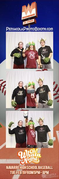 Whataburger Navarre High Baseball Night 2-19-2019