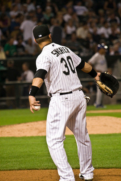 Taken The first game after the all star break. 7-18-2008. The White Sox win on a 6 run first inning. The Royals threatened to come back but were shut down by the former World Series champs! Sox win 9-5.