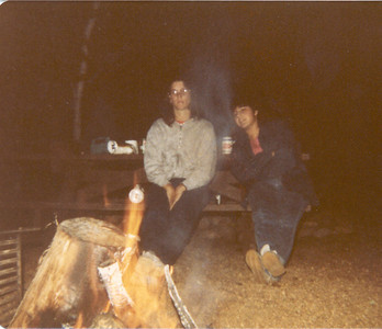 1983-6-Rox and Lisa -Campfire