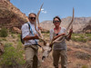 Chris and Joyce with Elk antler and skull