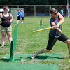 Joey Guilfoil, of Worcester, grabs a hit during the Wifflin' For Wishes tournament at McLaughlin Field in Leominster on Saturday morning.  Proceeds from the event are to be donated to the Make-A-Wish Foundation. SENTINEL & ENTERPRISE / Ashley Green