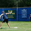 Participants play in the Wifflin' For Wishes tournament at McLaughlin Field in Leominster on Saturday morning.  Proceeds from the event are to be donated to the Make-A-Wish Foundation. SENTINEL & ENTERPRISE / Ashley Green