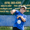 Mark Garner during the Wifflin' For Wishes tournament at McLaughlin Field in Leominster on Saturday morning.  Proceeds from the event are to be donated to the Make-A-Wish Foundation. SENTINEL & ENTERPRISE / Ashley Green